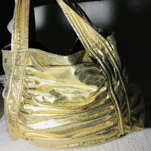 Chinese Laundry Metallic Gold HOBO Purse/Shoulder